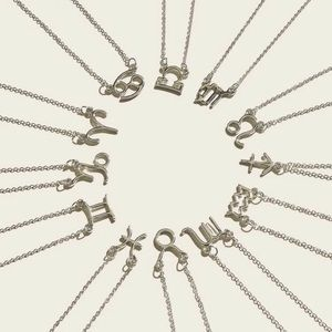 3/$33 Silver Astrology Necklaces